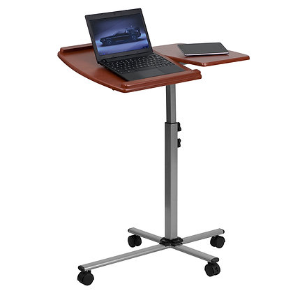 angle and height adjustable laptop mobile desk
