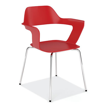 zella collection guest stack chairs red
