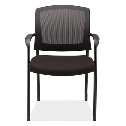 parson collection mesh back stack chairs with black frame