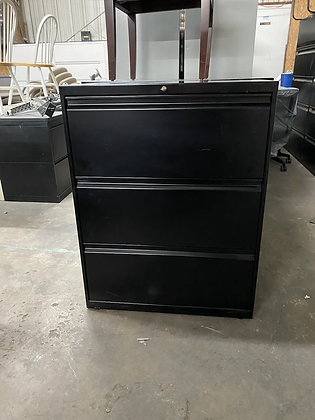 Allsteel 3 drawer lateral file cabinets