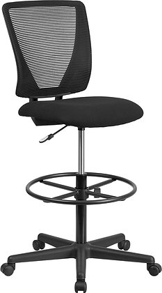 ergonomic armless mid back drafting stools with foot rest