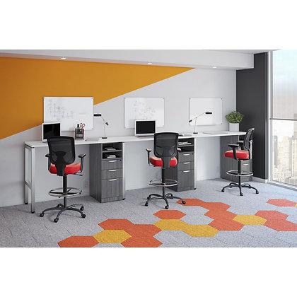 variant collection set of 3 counter height 24 x 60 single pedestal desks