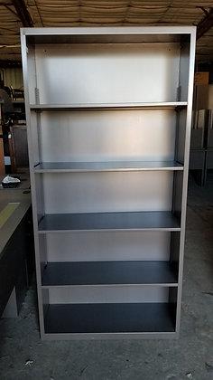used hon metal bookcases in dark gray finish