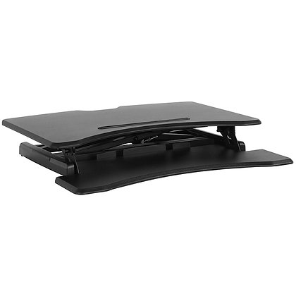 """30.25"""" wide sit to stand desk in black finish"""
