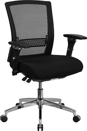 hercules 24/7 intensive used 300lb rate mid back fully adjustable ergonomic chairs
