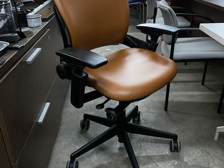 Steelcase leap V2 ergonomic office chairs.