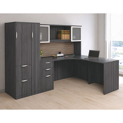os laminate collection corner l shaped desk unit with wardrobe cabinet and hutch typical os24