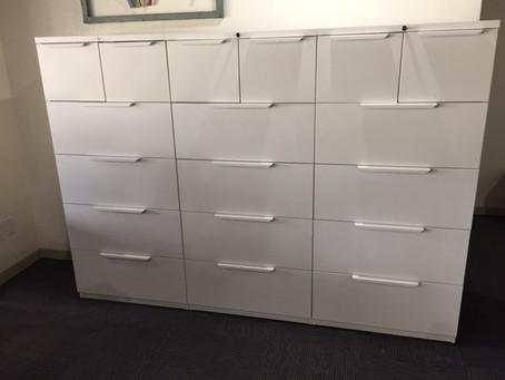 Haworth X series filing cabinets