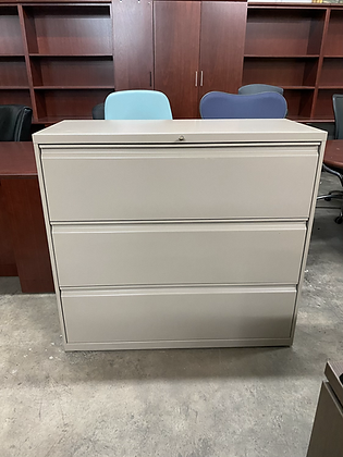 Hon 3 drawer lateral file cabinets