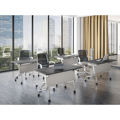os training collection set of 4ea. 48 x 24 training tables on casters