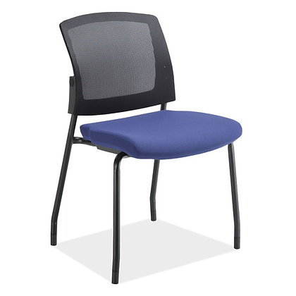 parson collection armless mesh back stack chairs with many seat colors available