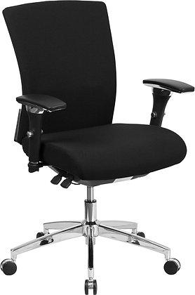 HERCULES Series 24/7 Intensive Use 300 lb. Rated Black Fabric Ergonomic Chairs