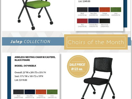 Chairs of the month on sale