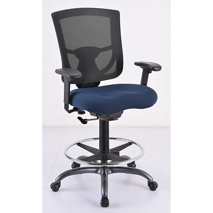 cool mesh pro mesh back task stools with foot ring with navy seat