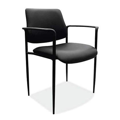 levy collection black vinyl guest stack chairs