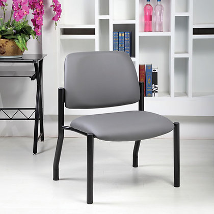 big and tall collection armless guest chairs with antimicrobial upholstery and heavy duty black base