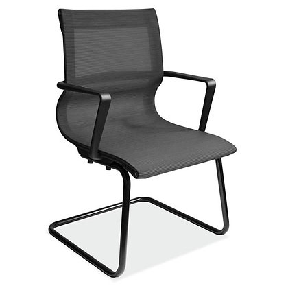 franklin collection mesh guest chairs with black frame