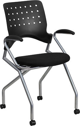 galaxy mobile nesting chairs with arms and casters training room or guest chairs