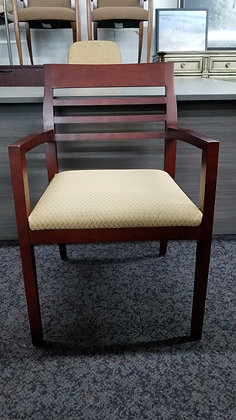 Used Paoli guest chairs mahogany frame with padded seat