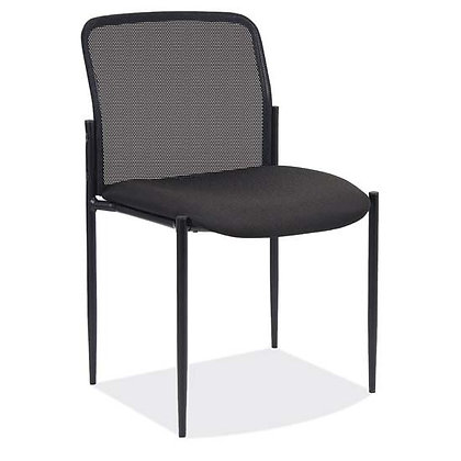 crossway collection armless mesh back stack chairs