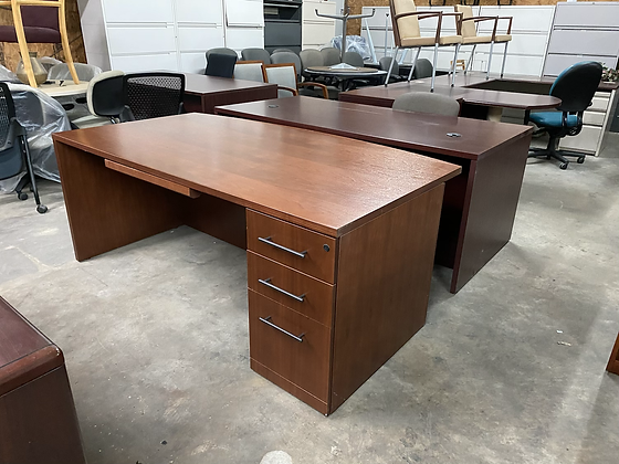 Haworth single cabinet desk