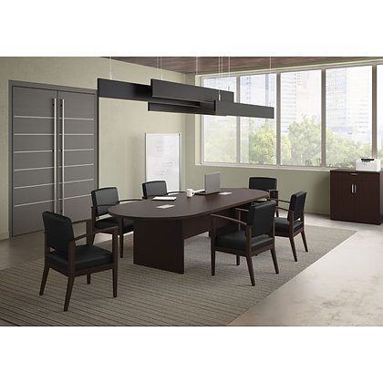 office source new laminate 10' conference table racetrack shaped