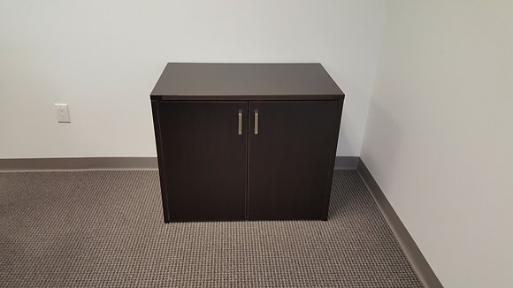 "29"" height cherryman storage cabinet with 1 adjustable height shelf"