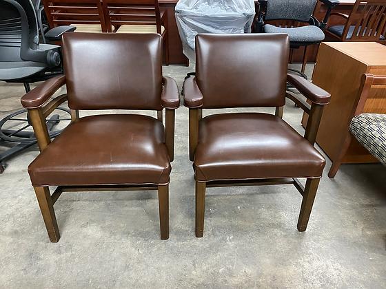 Vintage stout guest chairs