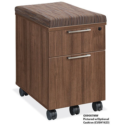 office source sienna collection box file mobile pedestal with lock and cushion top