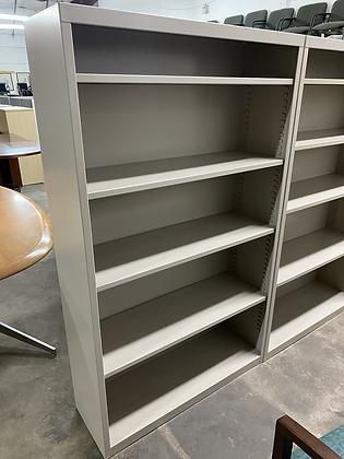 Metal bookshelves