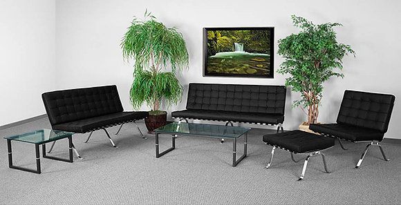 hercules flash series mid century modern style reception lobby collection