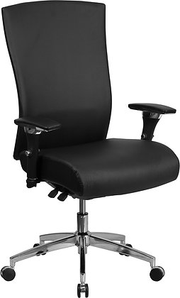 high back 24/7 intensive use black leather executive ergonomic chair