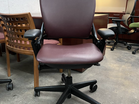 Now in stock Steelcase leap ergonomic office chairs