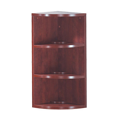 """os laminate collection 36"""" height corner bookcase"""