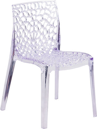 elegant crystal ice stacking guest chairs in
