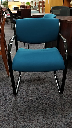 used steelcase snodgrass heavy duty guest chairs blue