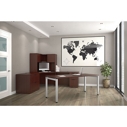 variant collection executive office set up with corner hutch