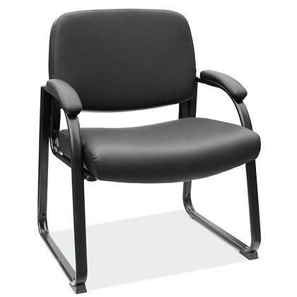 big and tall collection  500 pounds weight rate guest chairs with heavy duty base and padded arms