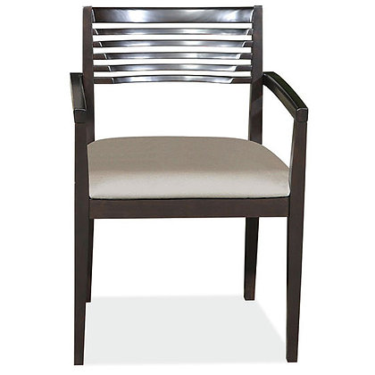 savore collection wood frame slat back guest chairs