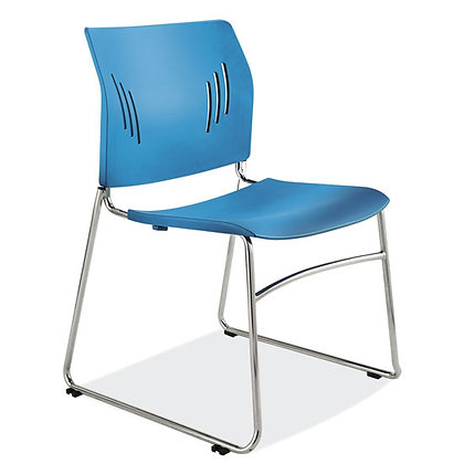 stacked seating collection armless stack chairs blue