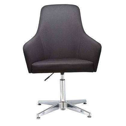 elroy lounge chairs with arms and adjustable seat height chrome base