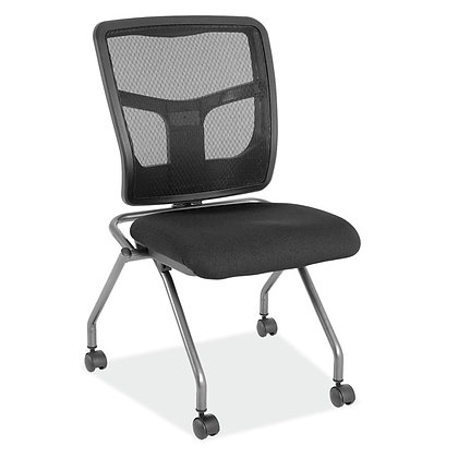 coolmesh collection armless nesting chairs black