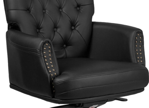 Stupendous High Back Traditional Tufted Black Leather Multifunction Executive Chairs Download Free Architecture Designs Osuribritishbridgeorg