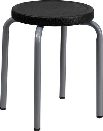 new stackable stool black