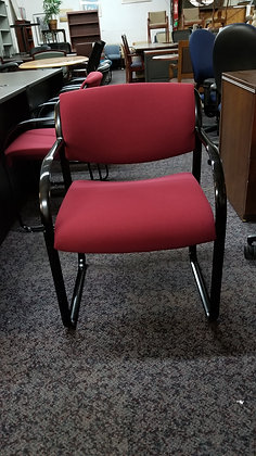 used steelcase snodgrass comercial grade heavy duty guest chairs burgundy
