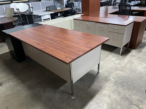 Vintage Steelcase desk and credenza set