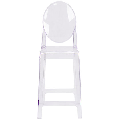 ghost counter stool with oval back