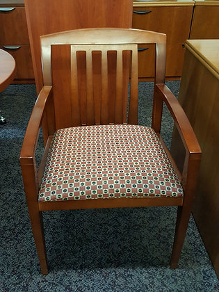 haworth composites guest chairs with slat back and padded seat