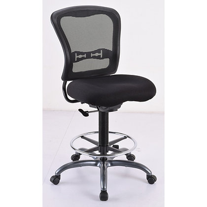 spice collection armless mesh back task stools with black seat