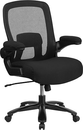hercules series 500 lb weight rate ergonomic chairs with black fabric seat and mesh back